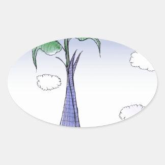 Pegatina Ovalada Flower power de ShardArt de Tony Fernandes