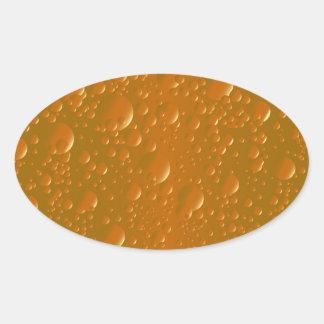 Pegatina Ovalada Fondo anaranjado de Bibble de la sombra