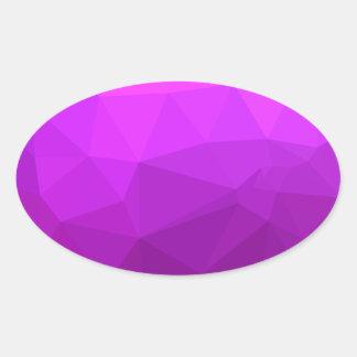 Pegatina Ovalada Fondo bajo abstracto púrpura bizantino del