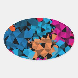 Pegatina Ovalada Formas geométricas coloridas 3D