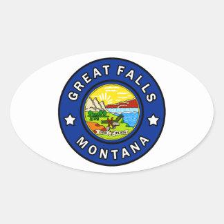Pegatina Ovalada Great Falls Montana
