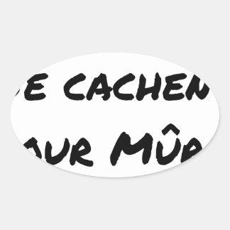 Pegatina Ovalada HECHAS la PARED NO HAY la GUERRA - Juegos de
