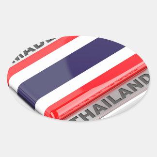 Pegatina Ovalada Hecho en Tailandia