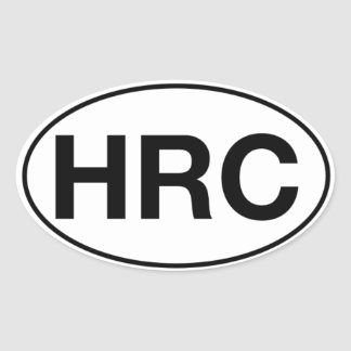Pegatina Ovalada HRC - Pegatinas ovales, mates