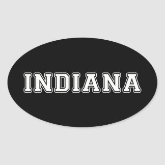 Pegatina Ovalada Indiana
