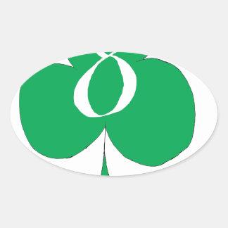 Pegatina Ovalada Irlandés afortunado 8 de los clubs, fernandes tony