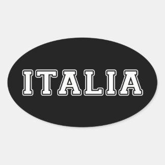 Pegatina Ovalada Italia