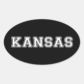 Pegatina Ovalada Kansas