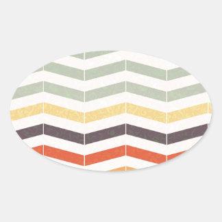 Pegatina Ovalada Líneas abstractas