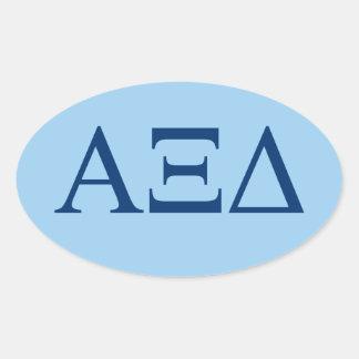 Pegatina Ovalada Logotipo grande de Lil del delta de la alfa XI