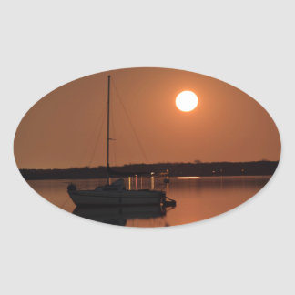 Pegatina Ovalada Luna Llena de noviembre de 2016