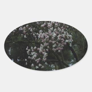 Pegatina Ovalada Magnolias para siempre