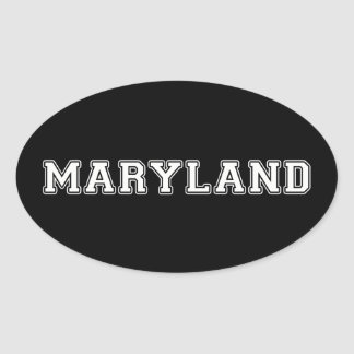 Pegatina Ovalada Maryland