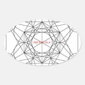 Pegatina Ovalada mi caja es… El cubo de Metatron