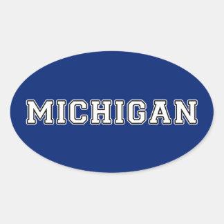 Pegatina Ovalada Michigan