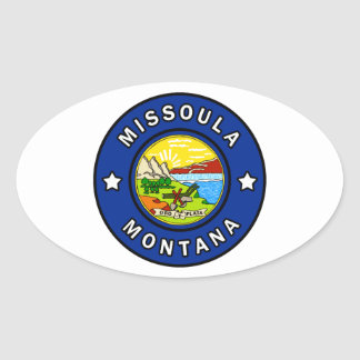 Pegatina Ovalada Missoula Montana