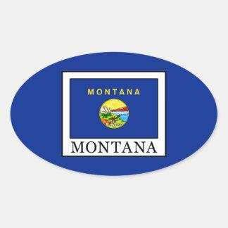 Pegatina Ovalada Montana