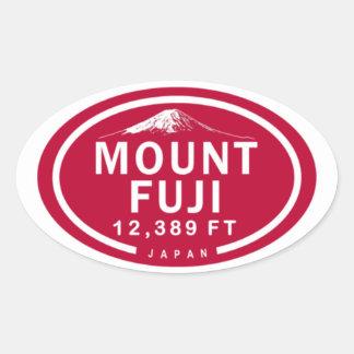 Pegatina Ovalada Montaña del monte Fuji 12.389 pie Japón