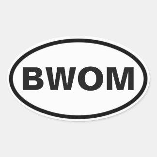 Pegatina Ovalada Muestra del international de BWOM