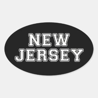 Pegatina Ovalada New Jersey