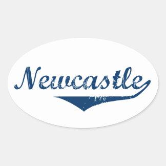 Pegatina Ovalada Newcastle