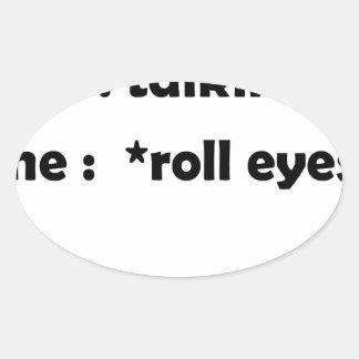 Pegatina Ovalada ojos del rollo
