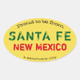 "Pegatina Ovalada ""Orgulloso ser de Santa Fe, una ciudad del"