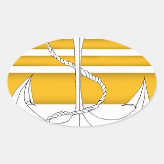 Pegatina Ovalada oro vicealmirante, fernandes tony