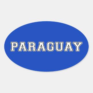 Pegatina Ovalada Paraguay