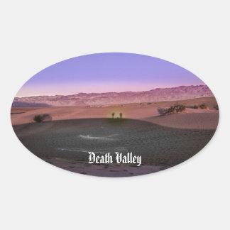 Pegatina Ovalada Parque nacional de Death Valley de la salida del