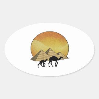 Pegatina Ovalada Paso egipcio