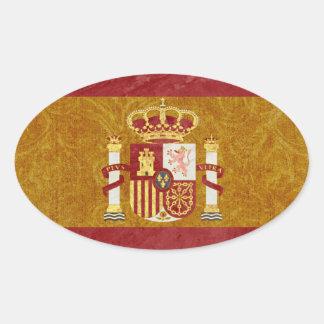 Pegatina Ovalada Pegatinas de la bandera de España