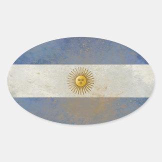 Pegatina Ovalada Pegatinas de la bandera de la Argentina