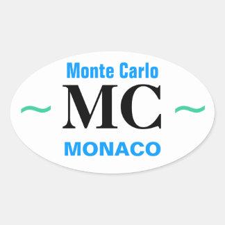 Pegatina Ovalada Pegatinas de MONTE CARLO (4)