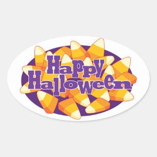 Pegatina Ovalada Pegatinas del caramelo del feliz Halloween