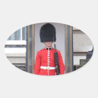 Pegatina Ovalada Pegatinas del óvalo del guardia de palacio de