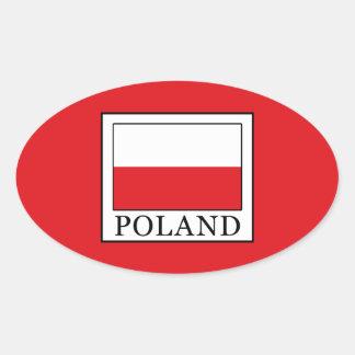 Pegatina Ovalada Polonia