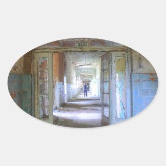 Pegatina Ovalada Puertas y pasillos 03,0, lugares perdidos, Beelitz