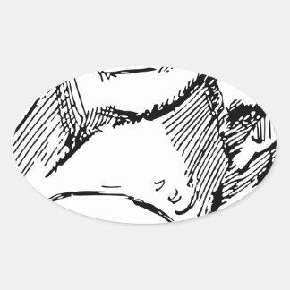 Pegatina Ovalada Rana