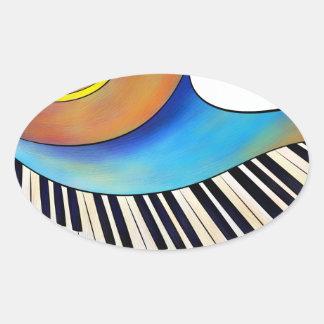 Pegatina Ovalada Redemessia - piano espiral
