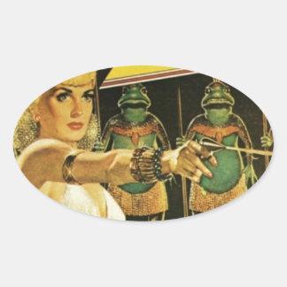 Pegatina Ovalada Reina de los hombres de rana