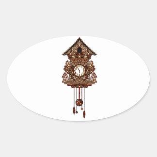Pegatina Ovalada Reloj de cuco 2