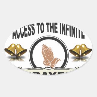 Pegatina Ovalada rezo infinito del acceso