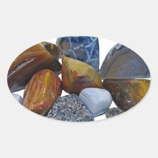 Pegatina Ovalada Rocas pulidas