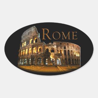 Pegatina Ovalada Roma