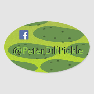 Pegatina Ovalada Salmuera Dil oval de Peter