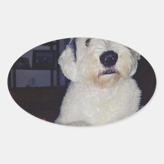Pegatina Ovalada Sam el perro pastor