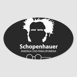 Pegatina Ovalada Schopenhauer Parerga Confidence ED.