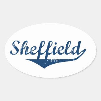 Pegatina Ovalada Sheffield
