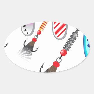 Pegatina Ovalada Sistema al azar de diverso vector de los colores